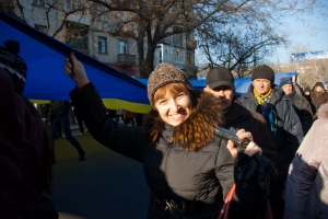 В Николаеве отметили месяц Евромайдана