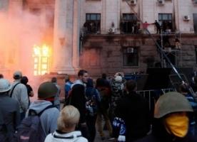 Одесский Дом профсоюзов 2 мая подожгли снаружи