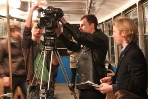 Американцы снимают фильмы в николаевских трамваях