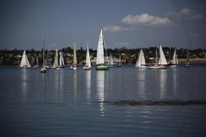 В Николаеве яхтсмены голосовали за мир...яхтами