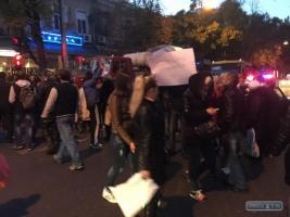 Одесситы перекрыли центр города, требуя зарплату от Гурвица