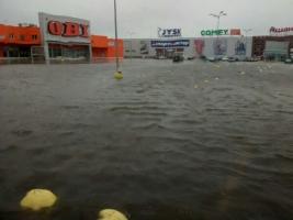 Под Одессой затопило торговый центр