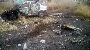 В Донецкой области автомобиль с мирными жителями наехал на мину, два человека погибли