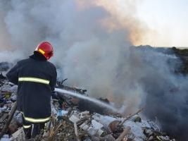 В Николаевской области произошел масштабный пожар на свалке