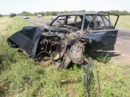 В Николаевской области «Москвич» протаранил легковушку «Ford»