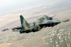 Упал николаевский военный самолет Су-25