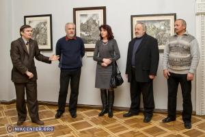 В Николаеве открылась выставка графики военного лётчика