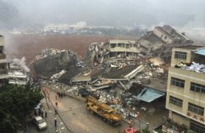 В Китае в результате оползня 91 человек пропали без вести, более 20 домов ушли под землю