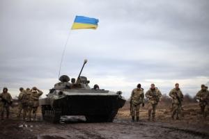 Под Новотроицким ранены 6 украинских военных - штаб