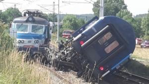 При столкновении двух пассажирских поездов в Чехии пострадали семь человек