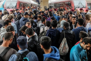 В Германии произошли массовые столкновения с мигрантами