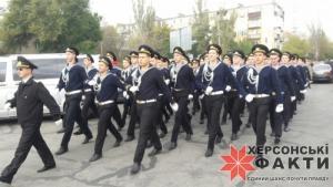 Сегодня в Херсоне прошло шествие моряков (ФОТО)