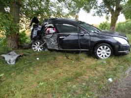 На Николаевщине водитель «Nissan Teana» врезался в дерево, четыре человека госпитализированы