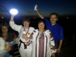 Цюрупинский мост засиял огнями патриотизма