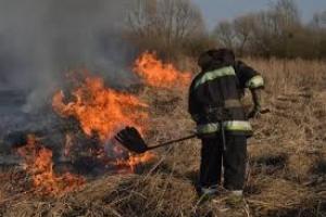 На Херсонщине снова горит сухая трава
