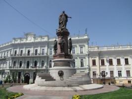 Одесским казакам запретили сносить памятник Екатерине II