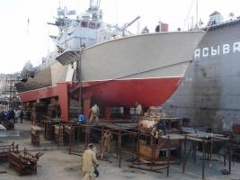На николаевском заводе им. 61-го коммунара отремонтировали ракетный катер «Прилуки»