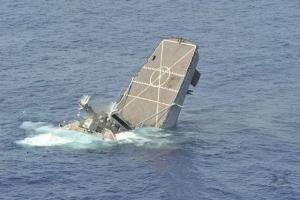 Под Одессой затонул корабль