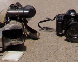 В Запорожской области на глазах у правоохранителей избили журналистов