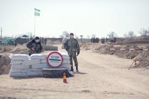 На Херсонщине автомобилист пытался прорваться через Арабатскую стрелку в Крым