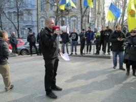 Одесские активисты пикетировали прокуратуру, требуя расследовать события 2 мая 2014 года
