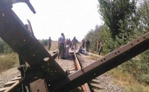 Активисты «Правого сектора» перекрыли железную дорогу в Крым