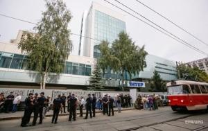 В Киеве активисты заблокировали вход в здание «Интера»