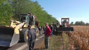 На Николаевщине на полях в Чаусово произошли столкновения между работниками агрофирмы Корнацких и охранниками