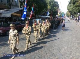 Участники военно-патриотической игры прошлись маршем по центру Одессы (ФОТО)