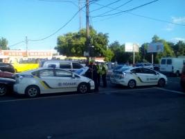 В Одессе столкнулись два полицейских автомобиля