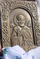 Одесские мастера изготовили и передали в дар николаевским десантникам икону Святителя Николая