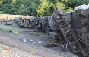 ДТП в России: четыре вагона поезда сошли с рельс