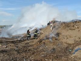 В Николаевской области горела мусорная свалка