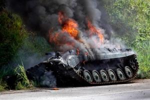 В Луганской области силы АТО уничтожили танк террористов