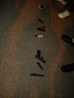 В Одессе активисты задержали пьяного водителя с арсеналом оружия