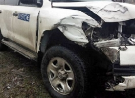 Террорист бросил снаряд в автомобиль миссии ОБСЕ